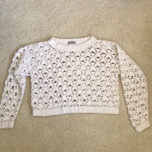 🌹ESPIRIT🌹Sexy Crocheted Crop Top Sweater